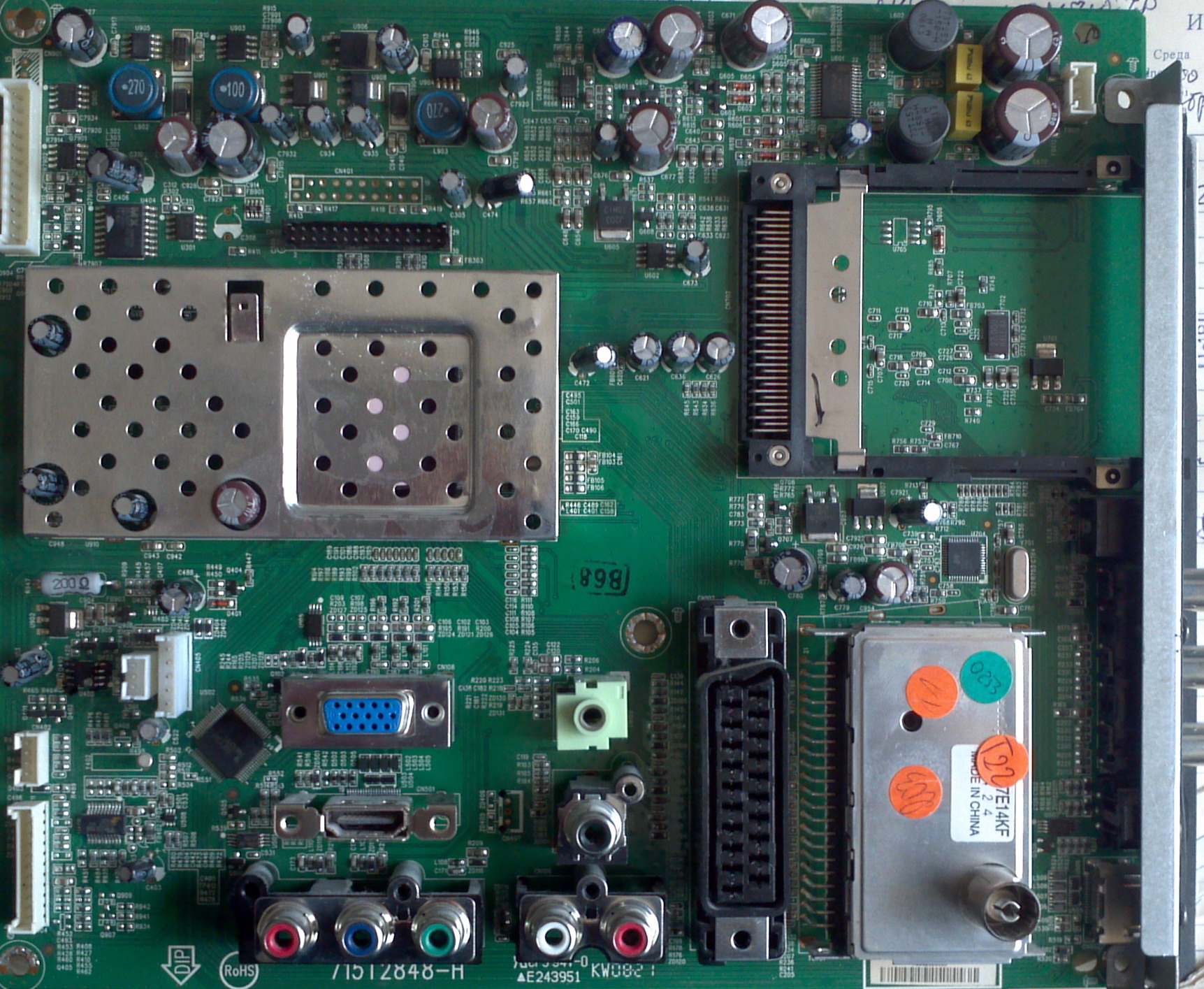 Philips 22PFL3403D/10, Main Board 715T2848-H