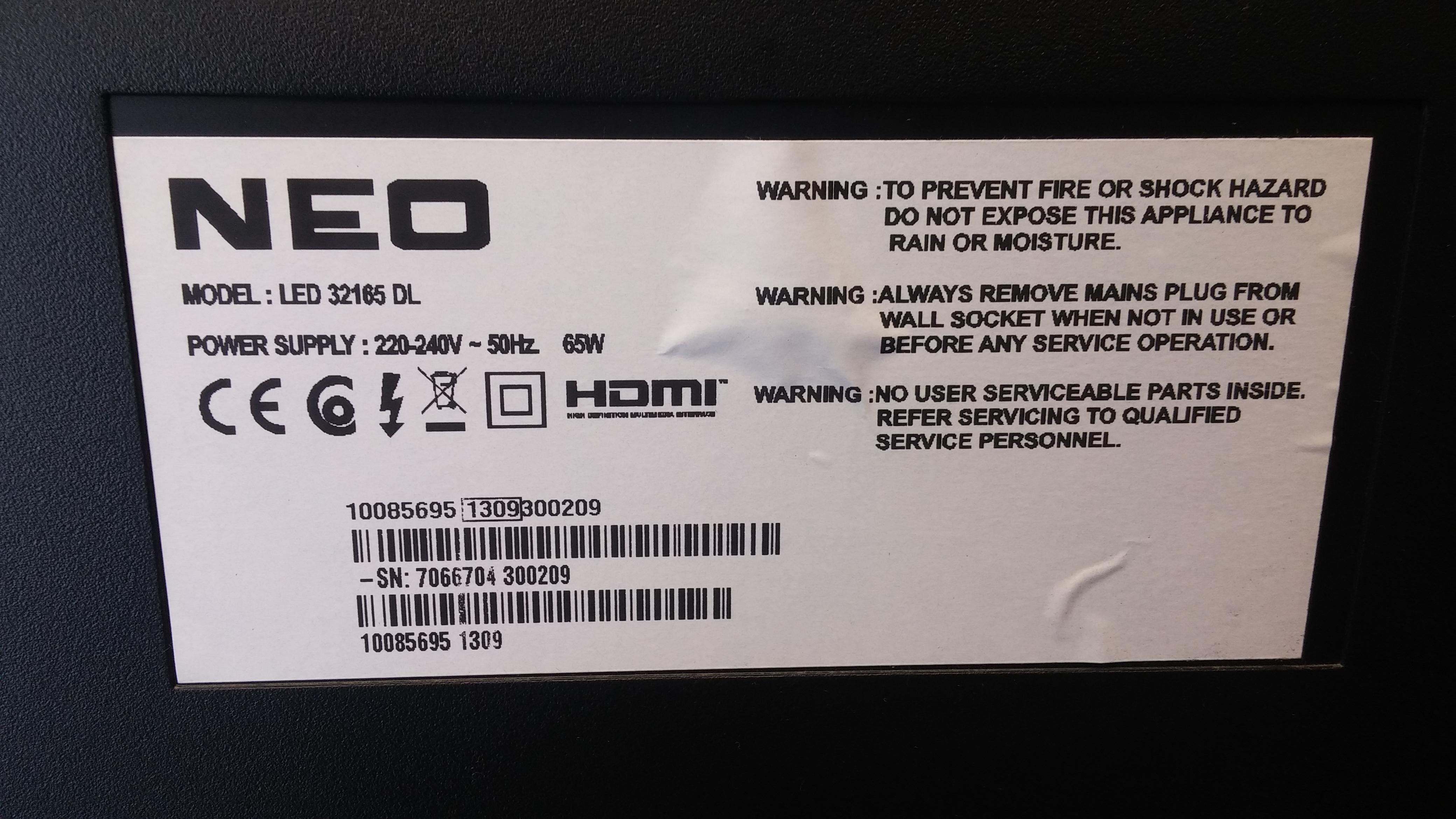 Neo LED 32165 DL, 17MB82-2, VES315WNDA-01 - CiklonElectro