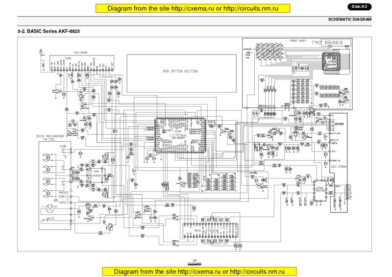 Типовые схемы автомагнитол -