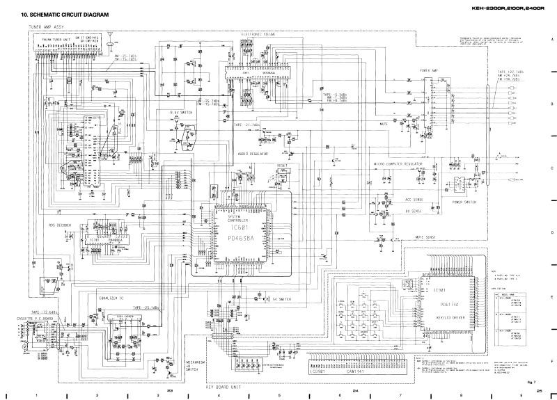 Схема pioneer keh-4011
