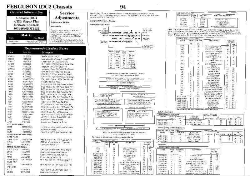 Telefunken шасси idc2 схема